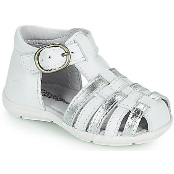 Topánky Dievčatá Sandále Citrouille et Compagnie RINE Biela / Strieborná