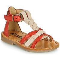 Topánky Dievčatá Sandále Citrouille et Compagnie GITANOLO Koralová / Ružová