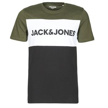 Oblečenie Muži Tričká s krátkym rukávom Jack & Jones JJELOGO Kaki