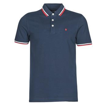 Oblečenie Muži Polokošele s krátkym rukávom Jack & Jones JJEPAULOS Námornícka modrá