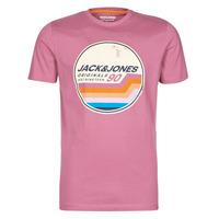 Oblečenie Muži Tričká s krátkym rukávom Jack & Jones JORTYLER Ružová
