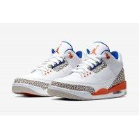 Topánky Členkové tenisky Nike Air Jordan 3 Knicks Rivals White/Old Royal-University Orange-Tech Grey