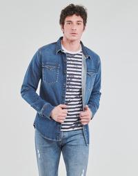 Oblečenie Muži Košele s dlhým rukávom Yurban OPUCI Modrá / Medium