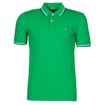Oblečenie Muži Polokošele s krátkym rukávom Benetton 3WG9J3181-108 Zelená