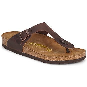 Topánky Ženy Žabky Birkenstock GIZEH PREMIUM Hnedá