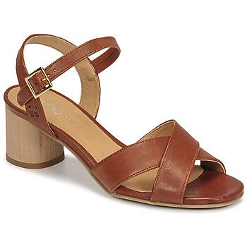 Topánky Ženy Sandále Dream in Green ODAINE Svetlá hnedá