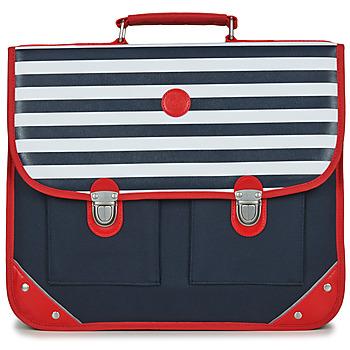 Tašky Chlapci Školské tašky a aktovky Citrouille et Compagnie SCUOLA 38CM Námornícka modrá / Biela / Červená