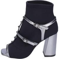 Topánky Ženy Čižmičky Stephen Good Stivaletti Tessuto Pelle Nero