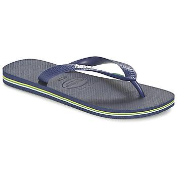Topánky Žabky Havaianas BRASIL LOGO Námornícka modrá