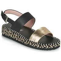 Topánky Ženy Sandále Café Noir GRISLI Čierna / Zlatá