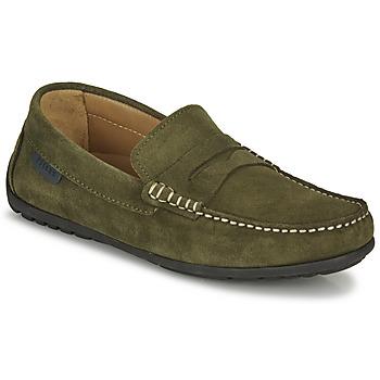 Topánky Muži Mokasíny Pellet Cador Kaki
