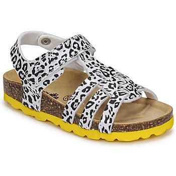 Topánky Dievčatá Sandále Citrouille et Compagnie JANISOL Leopard / Biela / Čierna