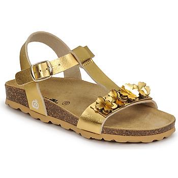 Topánky Dievčatá Sandále Citrouille et Compagnie KAPIBA Zlatá