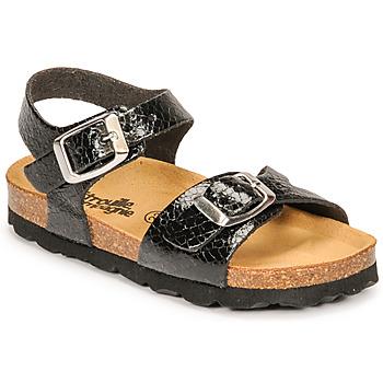 Topánky Dievčatá Sandále Citrouille et Compagnie RELUNE Čierna / Hadí vzor