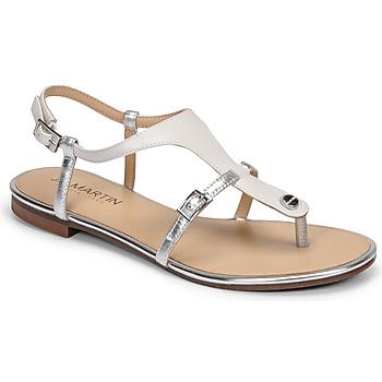Topánky Ženy Sandále JB Martin GAELIA Biela / Strieborná