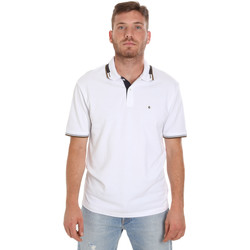 Oblečenie Muži Polokošele s krátkym rukávom Les Copains 9U9021 Biely