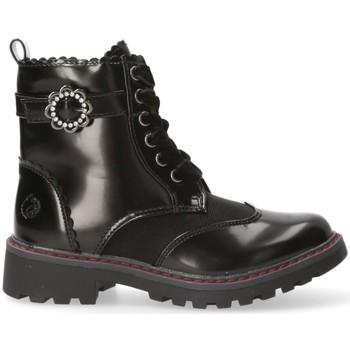 Topánky Dievčatá Polokozačky Chika 10 54216 Čierna