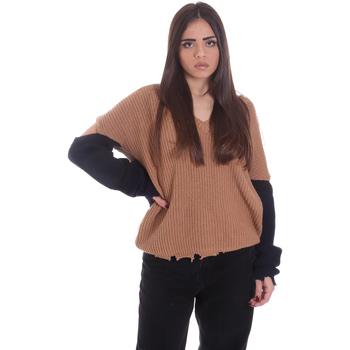 Oblečenie Ženy Svetre P-Jean 1X109Q Y4ZX Béžová