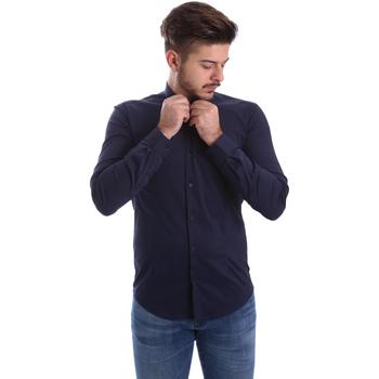 Oblečenie Muži Košele s dlhým rukávom Automatic CAU22400 Modrá