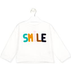 Oblečenie Deti Tričká s dlhým rukávom Losan 026-6029AL Biely