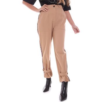 Oblečenie Ženy Nohavice Chinos a Carrot Gaudi 021FD25004 Béžová