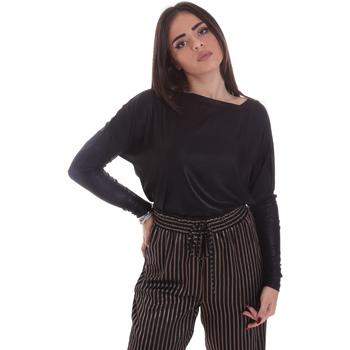 Oblečenie Ženy Tričká s dlhým rukávom Gaudi 021FD64014 čierna