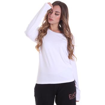 Oblečenie Ženy Tričká s dlhým rukávom Ea7 Emporio Armani 6HTT04 TJ28Z Biely