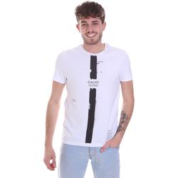 Oblečenie Muži Tričká s krátkym rukávom Gaudi 021GU64035 Biely