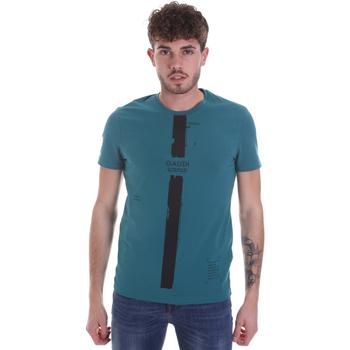 Oblečenie Muži Tričká s krátkym rukávom Gaudi 021GU64035 Zelená