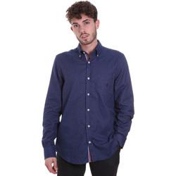 Oblečenie Muži Košele s dlhým rukávom Navigare NV91135 BD Modrá