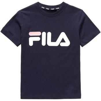 Oblečenie Deti Tričká s krátkym rukávom Fila 688021 Modrá