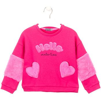 Oblečenie Dievčatá Mikiny Losan 026-6023AL Ružová