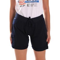 Oblečenie Ženy Šortky a bermudy Key Up 5G75F 0001 Modrá