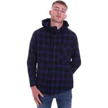 Oblečenie Muži Košele s dlhým rukávom Antony Morato MMSL00636 FA410149 Modrá