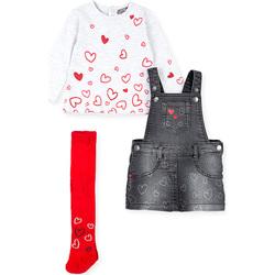 Oblečenie Dievčatá Komplety a súpravy Losan 028-8002AL Šedá