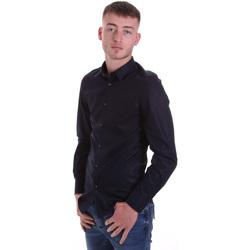 Oblečenie Muži Košele s dlhým rukávom Antony Morato MMSL00628 FA400079 Modrá
