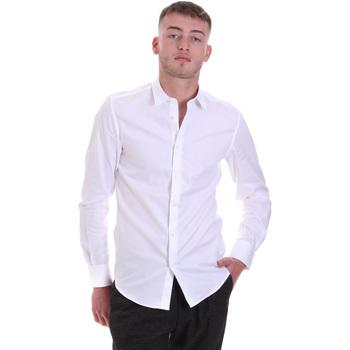 Oblečenie Muži Košele s dlhým rukávom Antony Morato MMSL00628 FA400079 Biely
