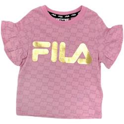 Oblečenie Dievčatá Tričká s krátkym rukávom Fila 688038 Ružová