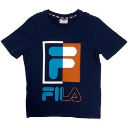 Oblečenie Deti Tričká s krátkym rukávom Fila 688149 Modrá