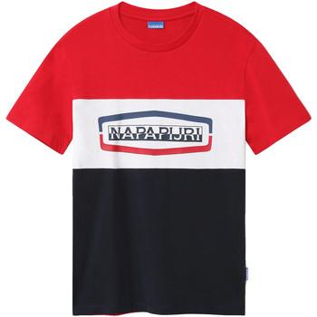 Oblečenie Muži Tričká s krátkym rukávom Napapijri NP0A4FDH Modrá