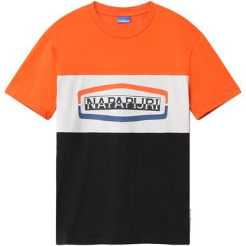 Oblečenie Muži Tričká s krátkym rukávom Napapijri NP0A4FDH čierna