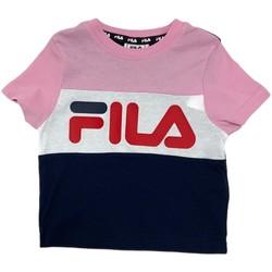 Oblečenie Deti Tričká s krátkym rukávom Fila 688023 Ružová