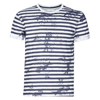 Oblečenie Muži Tričká s krátkym rukávom Yurban OLORD Námornícka modrá / Biela