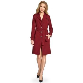 Oblečenie Ženy Krátke šaty Style S094 Kabát - bordový