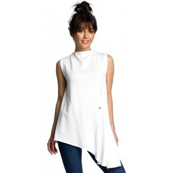 Oblečenie Ženy Blúzky Be B069 Asymetrický top bez rukávov - ecru