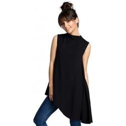 Oblečenie Ženy Blúzky Be B069 Asymetrický top bez rukávov - čierny