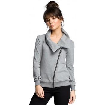 Oblečenie Ženy Mikiny Be B071 Mikina na zips - sivá