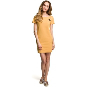 Oblečenie Ženy Krátke šaty Moe M374 Mini šaty s odznakom - žlté