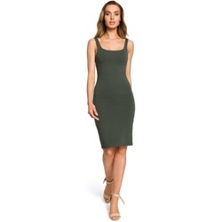 Oblečenie Ženy Krátke šaty Moe M414 Šaty na telo s hrubým popruhom - vojensky zelené