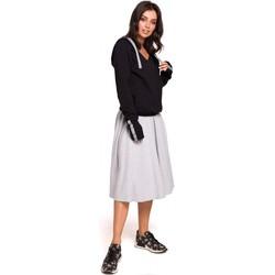 Oblečenie Ženy Mikiny Be B127 Pulóver s kapucňou - čierny